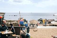 View from the Crab Shack (Chi Bellami) Tags: film agfa agfaphoto vista plus 200 nikon nikonos nikonosv 35mm zonefocus scalefocus scanned scan colour c41 negative photohippo chibellami amphibiouscamera beach coast shore steephillcove ventnor isleofwight