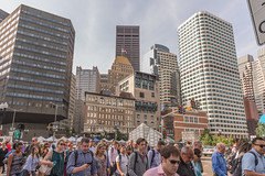 Rush Hour at South Station Boston (Alienation_Station) Tags: rushhour commuters city cityscape people buildings boston pedestrians downtown southstation urban