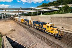 All the Way (Jake Branson) Tags: train railroad santa fe atsf sd402 bnsf ns norfolk southern d70 emd kansas city kc mo missouri bottoms west 1739 1747