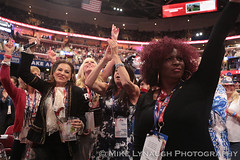 Delegates having a great time - 2016 Republican National Convention in Cleveland, OH #RNCinCLE (mikelynaugh) Tags: rncincle republicannationalconvention rnc republican trump convention cleveland americafirst makeamericagreatagain politics politicalrally ohio trump2016 delegates