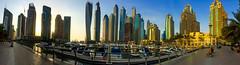 Dubai Sunset (Paul Saad (( ON/OFF ))) Tags: sunset sky building architecture skyscraper marina sunrise dubai panoramic emirates