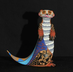 Otter Oaxaca Mexico Wood Carving (Teyacapan) Tags: animals folkart crafts mexican otter nutria oaxacan woodcarvings alebrijes