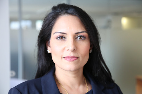 From flickr.com: Priti Patel who had served as Secretary of State for International Development in Prime Minister Theresa May's government. {MID-191513}