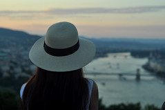 (gr0fuur) Tags: budapest hungary magyarorszg people person city urban vros sightseeing summer nyr 42 photography tourist travel friday original outdoor full duna danube river ambience ambient feeling hat kalap sunset depth field alkonyat dusk