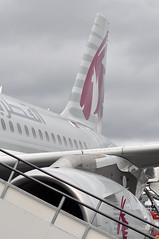 Airbus A319-133(LR) (A380spotter) Tags: tail tailfin verticalstabiliser rudder tailplane airbus a319 100lr 100 a7cja  alhilal qatar  qatarairways qtr qr  qatarexecutive qqe qe staticdisplay fia16 sbacfarnboroughinternationalairshow2016 taglondonfarnboroughairport eglf fab