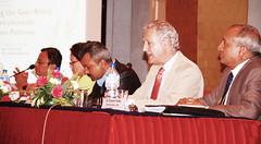Speakers L-R  Madhukar Shrestha, Savita Malla, Pradiumna Dahal, Patrick Webb, and Moderator Atmaram Pandey by