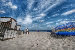 Relax (Michael Schnborn) Tags: nx500 nx walimexpro12mm20 samsung beach sky clouds hdr sunny sand water germany usedom