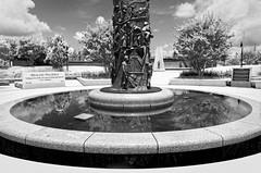 tower of reconciliation (fallsroad) Tags: johnhopefranklin reconciliationpark greenwood pool fountain massacre 1921 memorial tulsaoklahoma city bw blackandwhite nikond7000