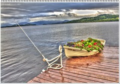 Angle Iron (Billy McDonald) Tags: hdr angleiron clouds duckbaymarina fishing lochlomond