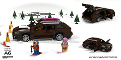 Audi A6 Allroad (C7 - 2012) (lego911) Tags: audi a6 allroad quattro 2012 2010 c7 auto car moc model miniland lego lego911 ldd render cad povray avant wagon awd 4x4 4wd german germany luxury lugnuts challenge 105 thegreatoutdoors great outdoors