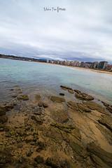 Gijn (Moira_Fee) Tags: gijon asturias asturies xixon paisaje landscape hdr playa beach puerto piedras stones bad weather nubes clouds cloudscape water agua nature moira fee