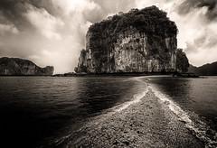 Sand Bridge (Marshall Ward) Tags: halong halongbay landscape vietnam seascape mono marshallward nikond800 afszoomnikkor2470mmf28ged 2016 asia southeastasia