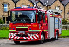 NJ03BGZ (firepicx) Tags: northumberland fire rescue service nfrs emergency brigade 999 firefighter dennis sabre wrlet pump blue lights sirens station lineup retained haydon bridge nj03bgz