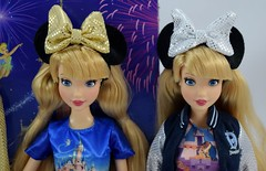 Shanghai Disney Resort Grand Opening vs Disneyland 60th Anniversary 12 Inch Dolls - Side By Side - Portrait Front View (drj1828) Tags: us disneyland purchase 2015 12inch posable disneyparks shanghaidisneyresort 2016 china