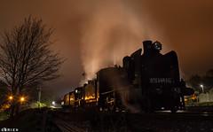 Waiting (Dobpics O'Brien) Tags: srv steam steamrail special victorian victoria vr rail railway railways train k153 k190 castlemaine maldon vgr night engine locomotive