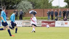 Peter McGill has an early second half opportunity (Stevie Doogan) Tags: clydebank glasgow perthshire exsel group sectional league cup wednesday 10th august 2016 holm park