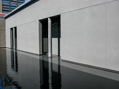 Frye Museum Pool Fountain (prima seadiva) Tags: column exterior firsthill frye light museum pond shadow sunny