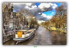 DE PRINSENGRACHT in AMSTERDAM (2) (rgisa) Tags: prinsengracht gracht canal amsterdam holland paysbas nederland boat pniche bteau