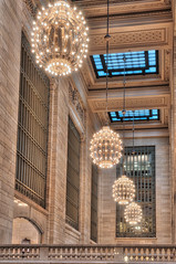 Chandeliers in Grand Central (DaveWilsonPhotography) Tags: hdr building manhattan gct grandcentralterminal architecture interior newyork grandcentral station ny