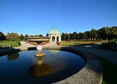 Mnchen - Hofgarten (cnmark) Tags: germany munich mnchen deutschland dianatempel hofgarten park garden reflection reflections fountain blue sky historisch historic allrightsreserved