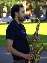 Come Blow Your Horn (swong95765) Tags: saxophone horn music man musician busking instrument guy male tenorsax