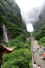 Heaven's Gate (Meeg.E) Tags: china heavens gate tianmen sky heaven travelling backpacking hiking students summer walking stairs landsc landscape view