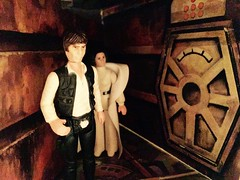 Trash Compactor 1 (Tracheotomy Bob) Tags: star wars palitoy death toys han solo princess leia trash compactor