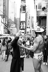 Face Off (Number Johnny 5) Tags: street new york city nyc urban naked square cowboy d750 april times tamron 2470mm 2015