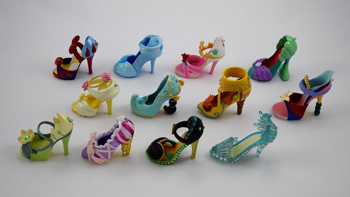 Disney parks princess shoe ornaments complete collection right
