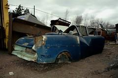 Opel Rekord (Ho-Dad) Tags: old abandoned broken car trash finland junk rust decay machine rusty forgotten 1950s rusting opel rekord