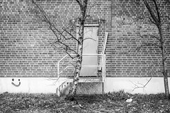 backdoor (mahohn) Tags: door bw brick monochrome hamburg 32 tür fujix10
