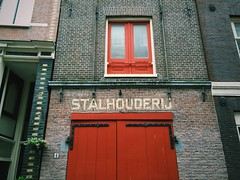 Stalhouderij (amanthei) Tags: street door old travel windows red holland color netherlands dutch amsterdam walking europe 4 bricks tiles nl mokum iphone bloemgracht stalhouderij iphone6 vscocam classicdutch
