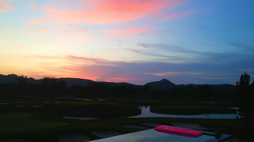 Sunrise over Black Mountain Golf Resort, Thailand