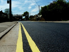 Day 4 resurfaced! (Explored!  Thank you) (amy's antics) Tags: road new black lines car tarmac yellow