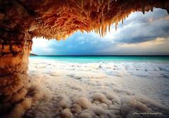 The central part of the Dead Sea, Israel - Salt invasion (Explored on 20-7-2016) (jackfre2) Tags: israel deadsea salt grotto saltgrotto sea enottsukim enfashka
