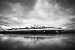Mountain monochrome (CNorth2) Tags: alaska clouds cloudy turnagainarm mountain moody blackandwhite monochrome