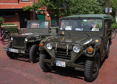 You are in the army now. (The Rubberbandman) Tags: auto usa ford car america truck radio germany army us mutt model jeep outdoor military badass scout german american vehicle oldtimer mp mb willys nordenham fahrzeug recon m151 reconnaissance