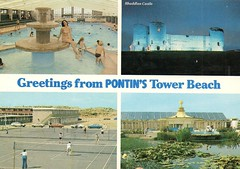 Pontins Tower Beach Holiday Camp, Prestatyn (trainsandstuff) Tags: postcard pontins prestatyn holidaycamp towerbeach
