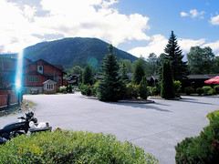 Soelvgarden Cottages. (topzdk) Tags: motorcycle mc norway honda bmw nature solvgardencottages brokke rysstad 2016 summer