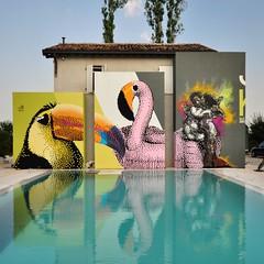 Gli amori impossibili  Krayon + Beetroot  Carpi - Villa privata (.krayon) Tags: summer streetart pool graffiti artwork mural pixelart pixels beetroot combo muralart krayon villaprivata pixelgallery streetarteverywhere