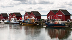 Fishing boats - Baltic Sea  --  [Explored] (hollmarran) Tags: fishingboat sea boltenhagen huts balticsea ostsee fischerboot