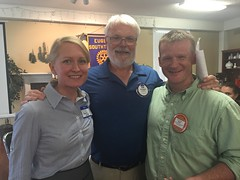Congratulations to new Southtowne member, Annie. Pictured with Glen, membership chair and Nick, Annie's sponsor.