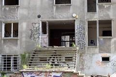 See-through to the next flat (baurichter) Tags: berlin monument concrete plattenbau ddr derelict gdr urbanexploring urbex wollenbergerstrasse