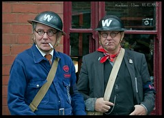 ARP Wardens (zweiblumen) Tags: uk england dudley westmidlands tipton polariser blackcountrylivingmuseum 1940sweekend canoneos50d lumiquestpocketbouncer zweiblumen canonspeedlite430exii