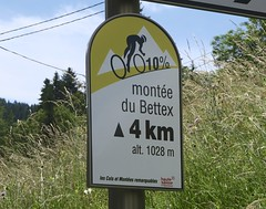 Montee du Bettex (will_cyclist) Tags: signs france alps cycling steep domancy