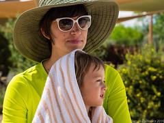 Mother and Child (Margan Zajdowicz) Tags: people outdoor child mother motherhood maternal pool zajdowicz digital love parent green glamour swim summer