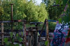 Old train lot (Bjrn O) Tags: lostplace verlasseneorte lost place abandoned verlassen industrie industry tiefenschrfe schrfentiefe urbex urban urbanexploration berlin