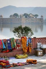 Jal Mahal (Water Palace) on the lake, Jaipur, India (inchiki tour) Tags: travel photo india asia     jaipur rajasthan      landscape jalmahal waterpalace palace lake