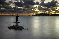 Sunset Fishing (hapulcu) Tags: grandeterre iledespins ileofpines newcaledonia nouvellecaledonie southpacific noumea beach dusk pier sunset