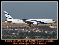Refuerzos de verano (Powell 333) Tags: boeing 7673q8er 4xeam boeing7673q8er boeing7673q8 er boeing7673 boeing767 767 3q8er q8 elal israelairlines el al israel airlines madridbarajas madrid barajas canoneos7d eos7d canon eos 7d powell spain espaa aeropuerto airport plane planes lemd avin avion aircraft aviones aena